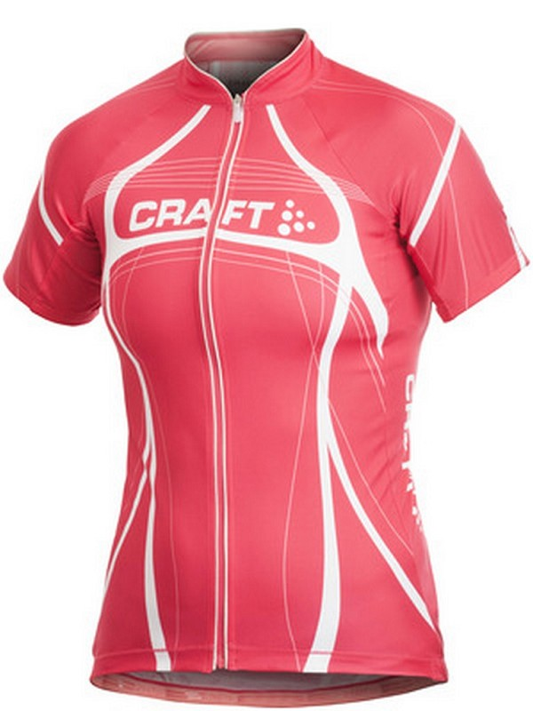 Craft cycling shirt W short sleeve pb tour pink L