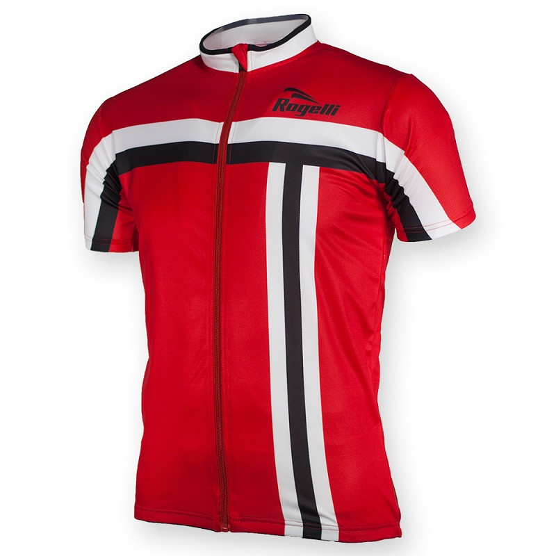 Rogelli cycling shirt ss Brescia red/white/black M