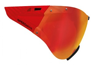 Casco visor Carbonic red