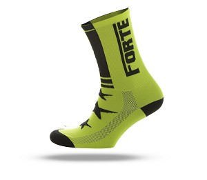 Forte fiets socks fluor yellow