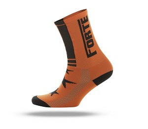 Forte fiets socks fluor orange